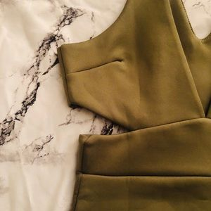 Boohoo Dresses - 🔒Olive Cut Out Dress🔒